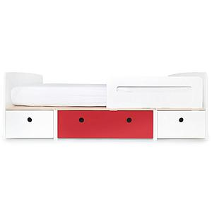 Lit évolutif 90x200cm COLORFLEX Abitare Kids white-true red-white