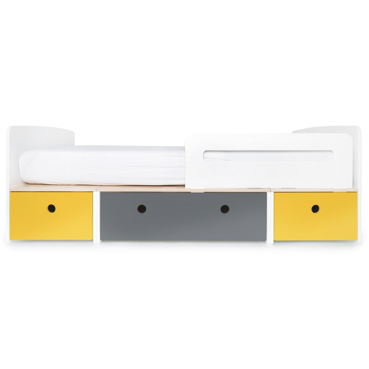 Lit évolutif 90x200cm COLORFLEX nectar yellow-space grey-nectar yellow