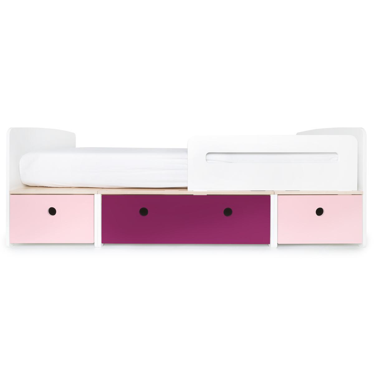 Lit évolutif 90x200cm COLORFLEX sweet pink-plum-sweet pink