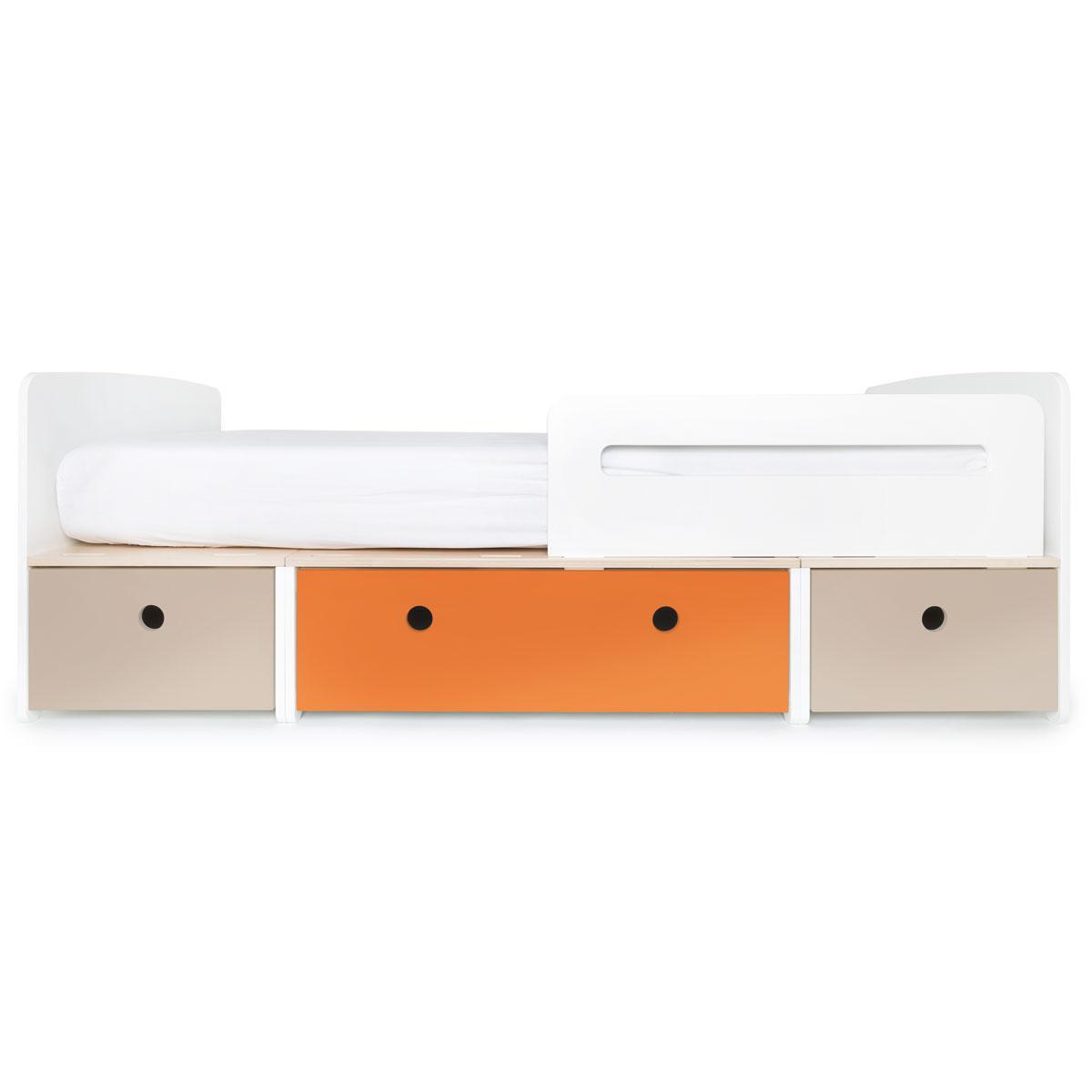 Lit évolutif 90x200cm COLORFLEX warm grey-pure orange-warm grey