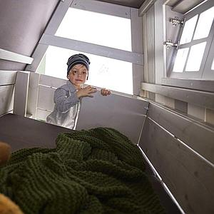 Lit évolutif cabane basse 90x200cm HANGOUT Lifetime blanc