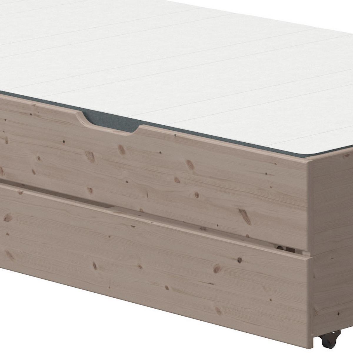 Lit gigogne-2 tiroirs 190cm CLASSIC Flexa terra