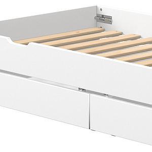 Lit gigogne-2 tiroirs 90x200cm WHITE Flexa blanc-blanc