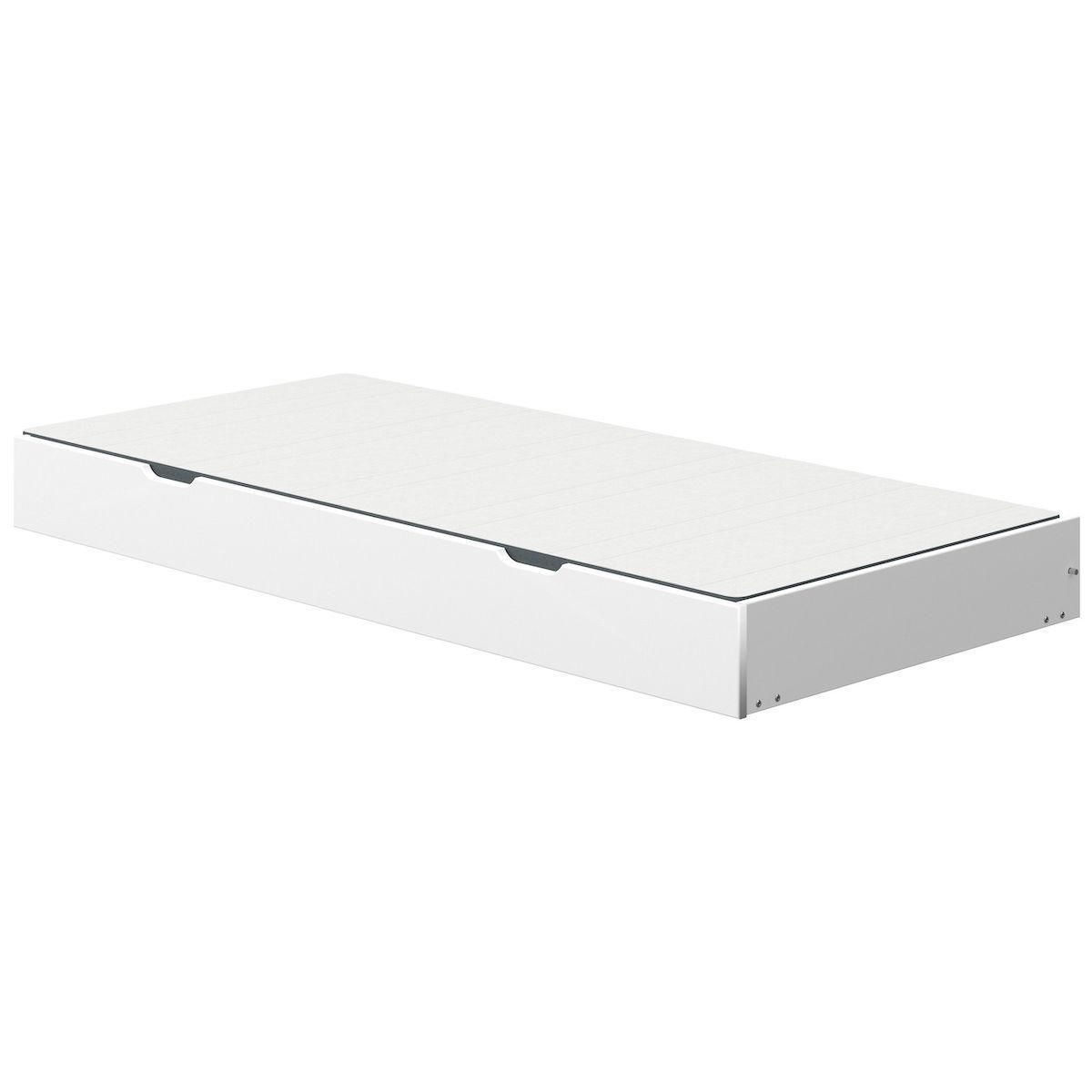 Lit gigogne roulettes-pieds 90x190cm WHITE Flexa blanc