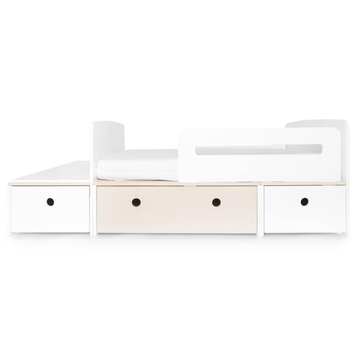 Lit junior évolutif 90x150/200cm COLORFLEX white-white wash-white