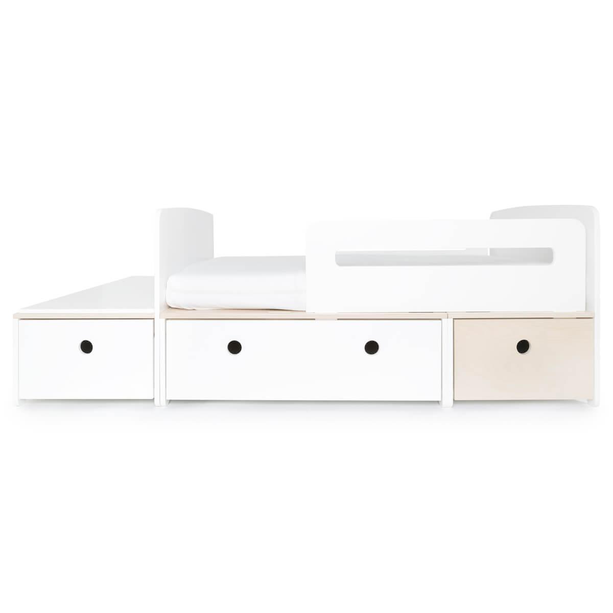 Lit junior évolutif 90x150/200cm COLORFLEX white-white-white wash