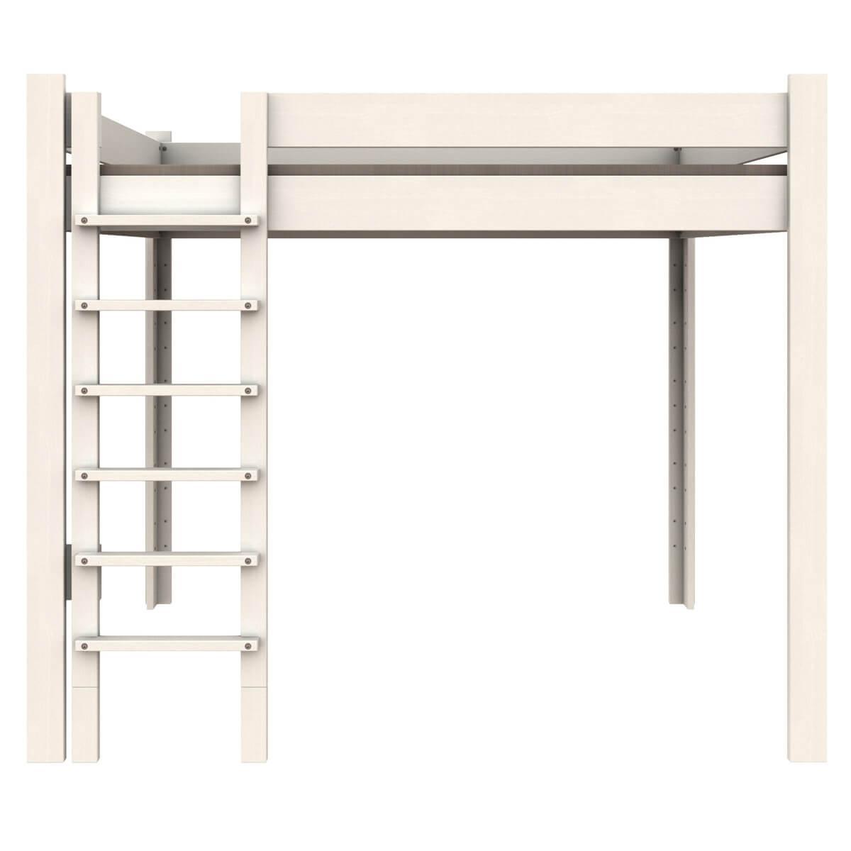 Lit mezzanine 140x200cm échelle frontal DESTYLE de Breuyn hêtre blanc