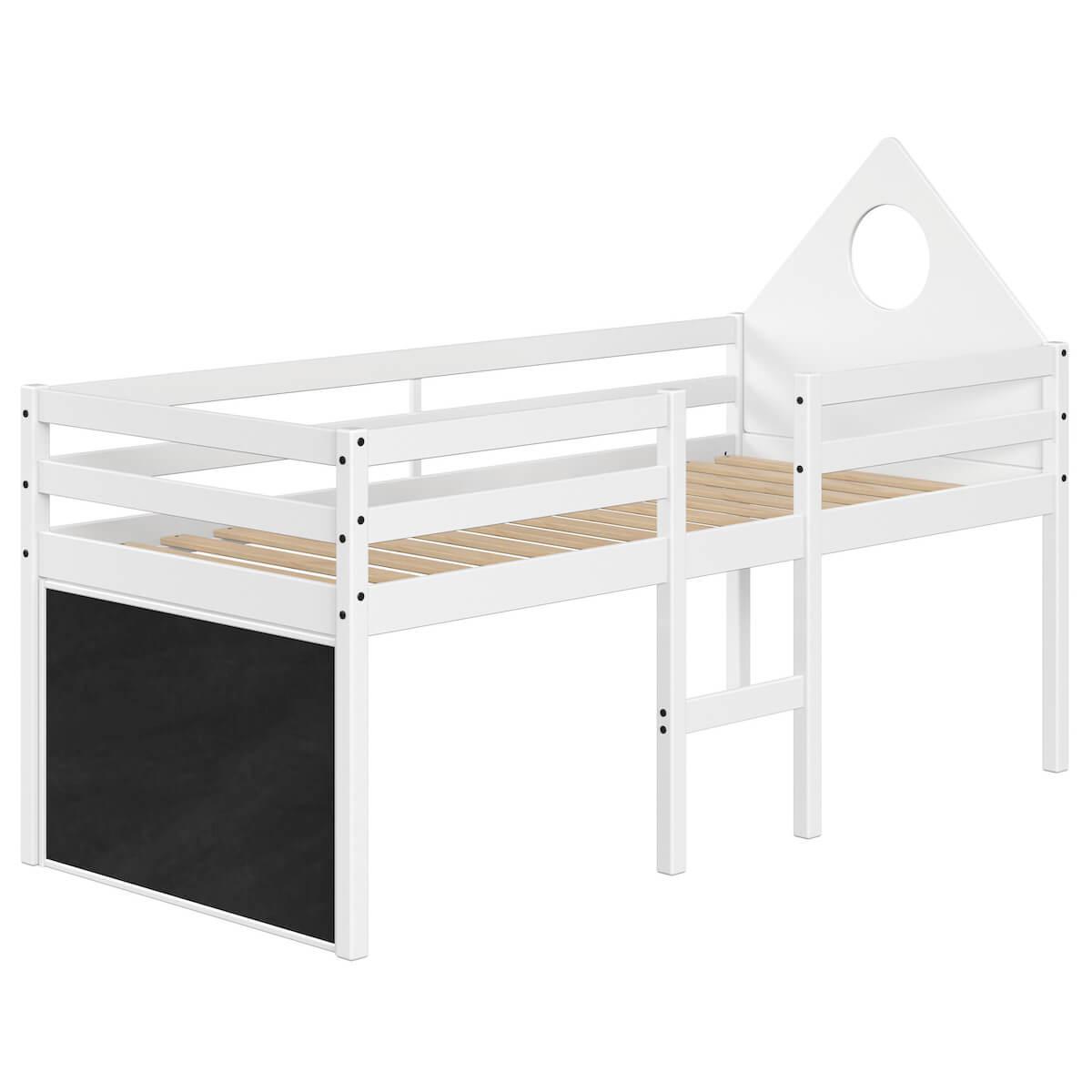 Lit mi hauteur 200x90cm tête de lit ALFRED Flexa full white