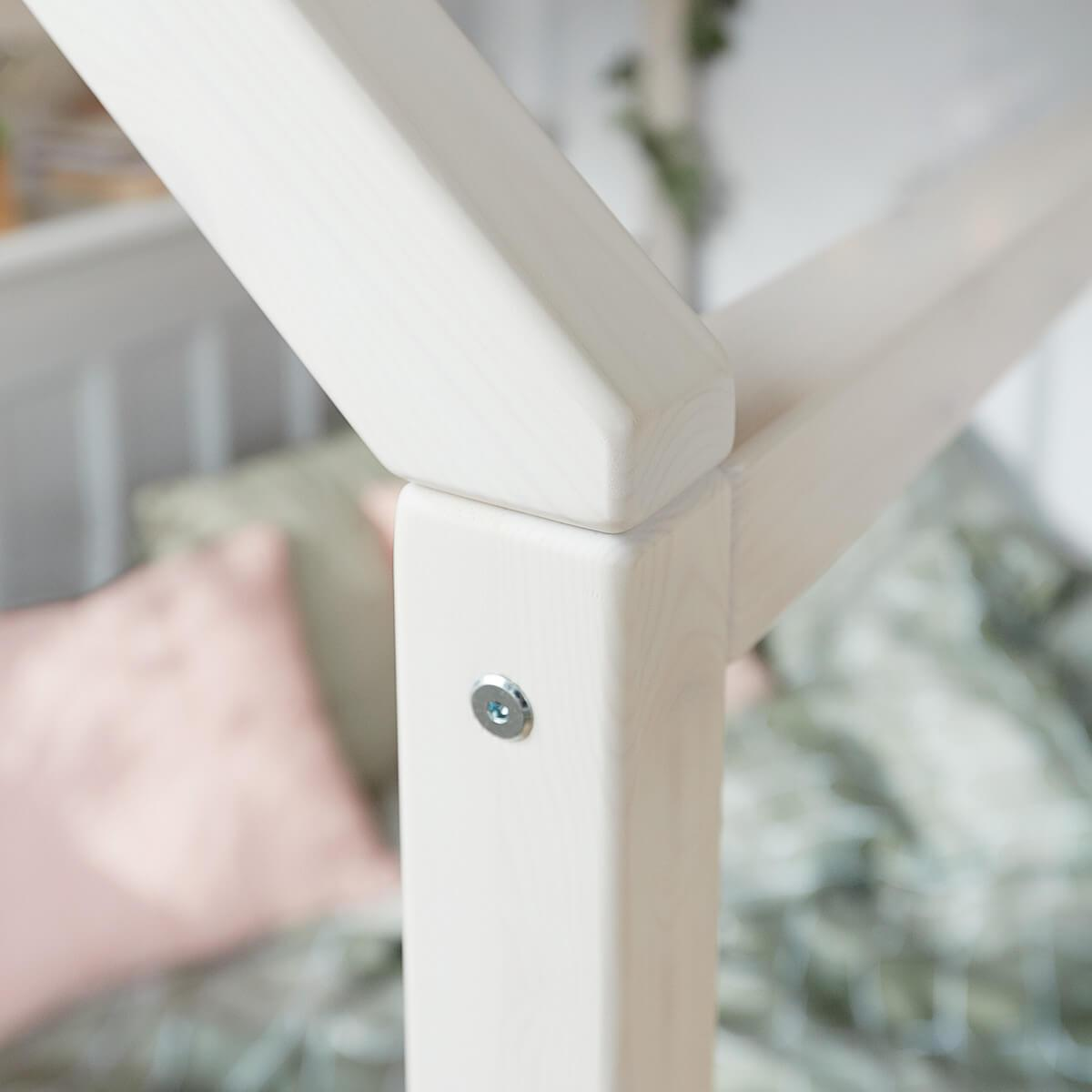 Lit simple 200x90cm COTTAGE Flexa blanchi