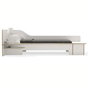 Lit simple 90x200cm tiroir de lit version gauche PLANE Mueller blanc