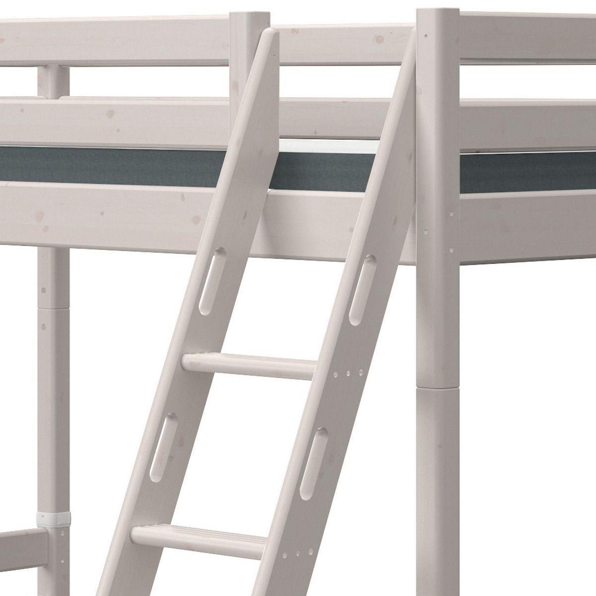 Lit superposé 90-140x190cm échelle inclinée CLASSIC Flexa grey washed