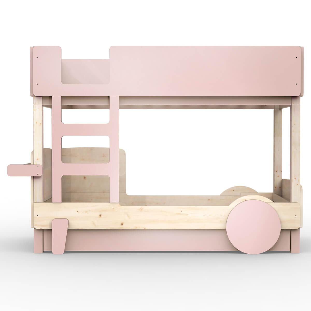 Lit superposé 90x190cm DISCOVERY Mathy by Bols rose hiver