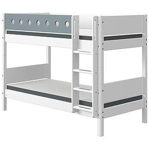 Lit superposé 90x200cm échelle droite WHITE Flexa blanc-light blue