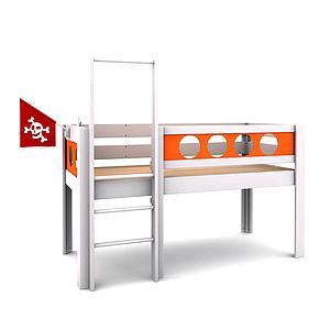 Lit surélevé Pirate DELUXE de Breuyn blanc-orange