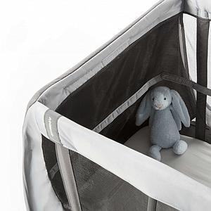 Lit voyage bébé AEROMOOV gris roche