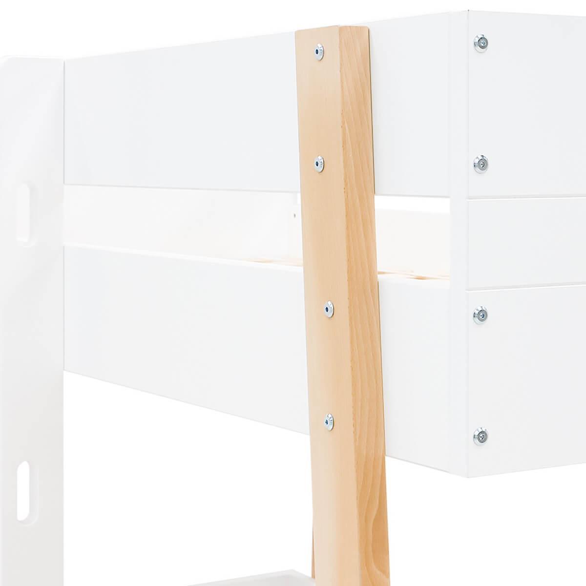 Lits superposés 90x200cm LISA Bopita blanc-naturel