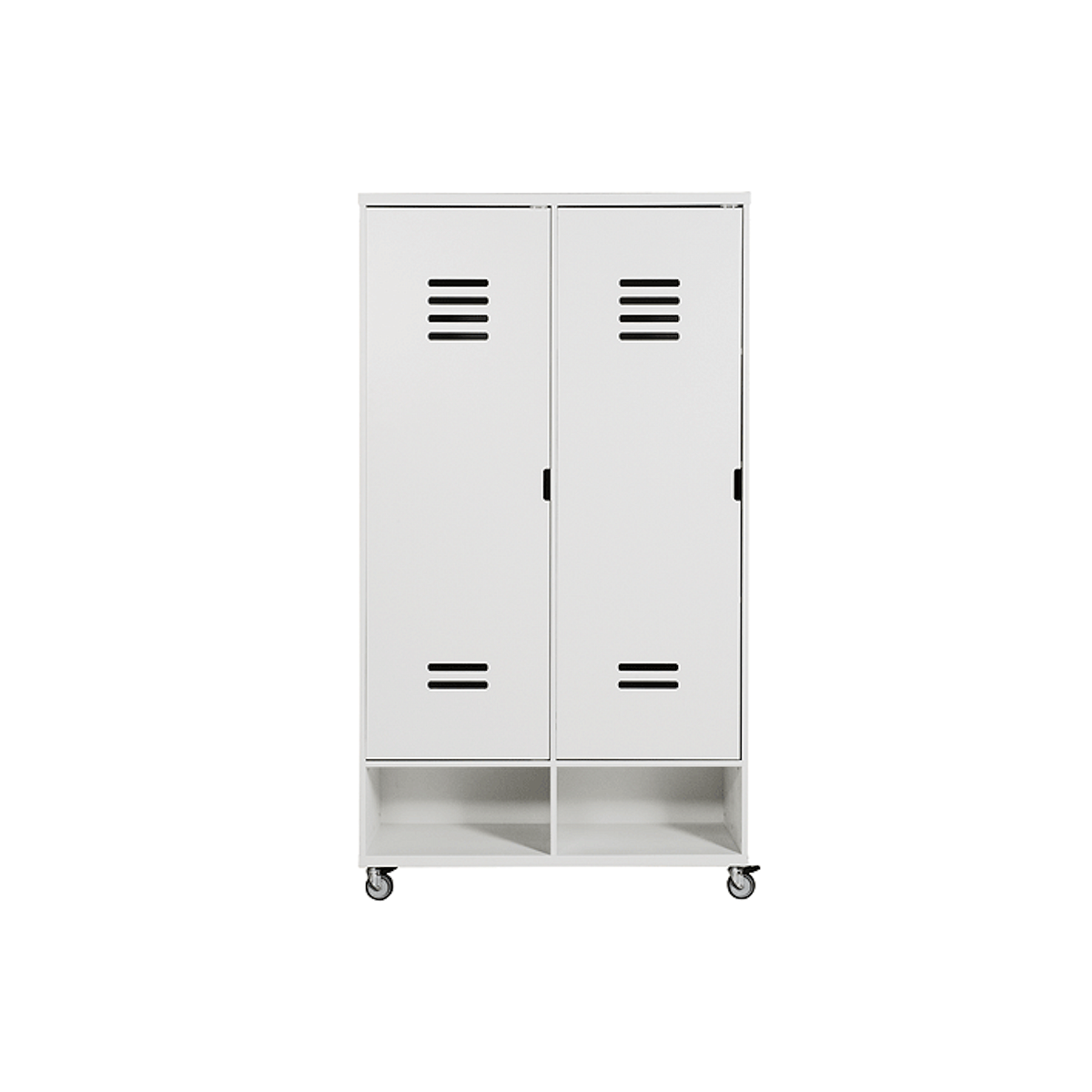 LOCKER MIX & MATCH by Bopita Armoire 2 portes à roulettes (tiroirs exclus)