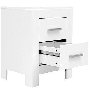 MEREL  by Bopita Table de nuit / Table à tiroirs Blanc
