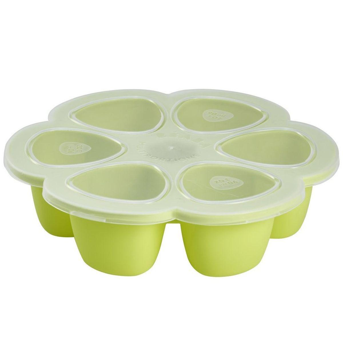 Multiportions silicone 6x90ml Beaba neon