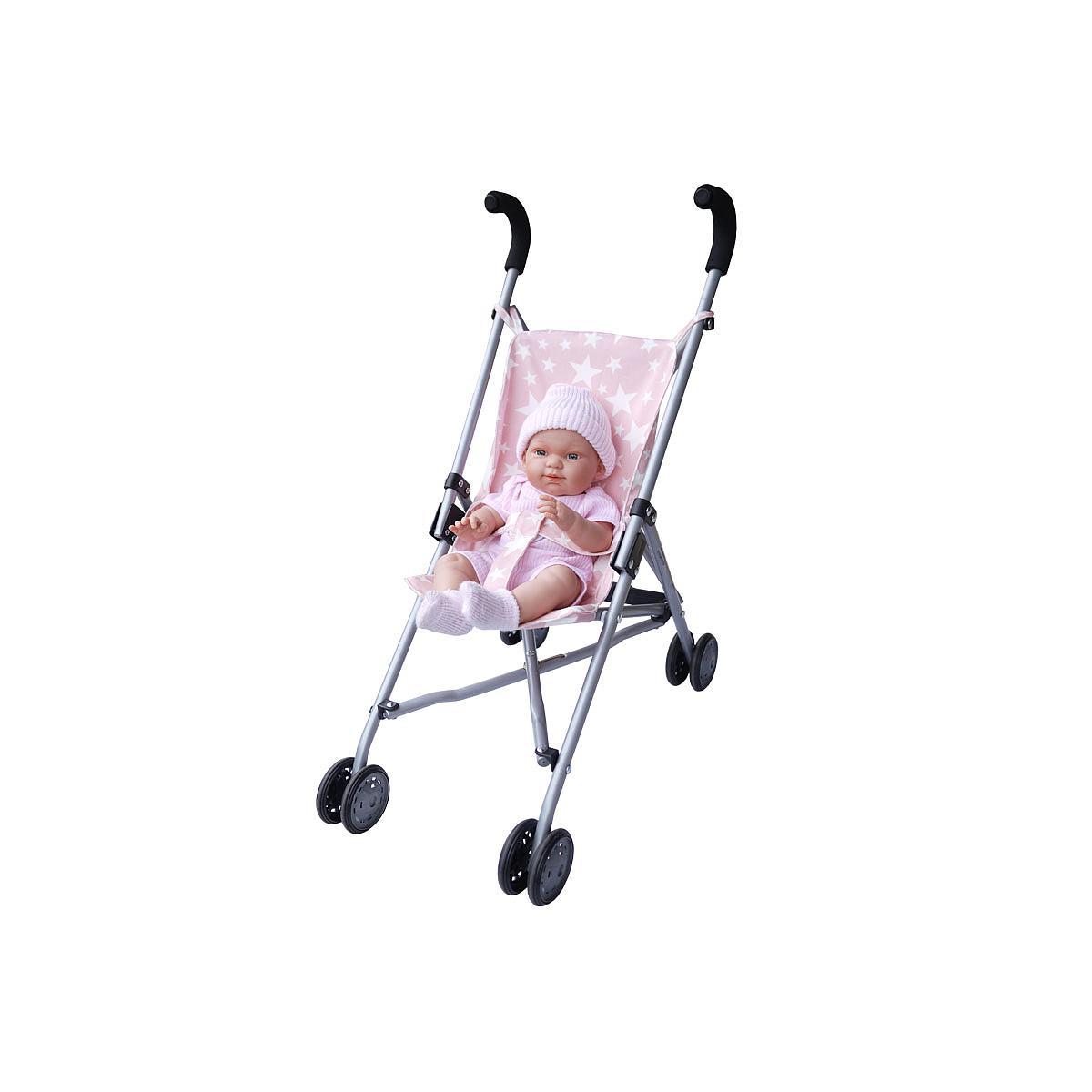 Pack poussette-poupée enfant Abitare Kids rose