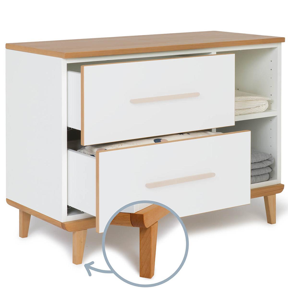 Petit meuble 2 tiroirs hors façades NADO