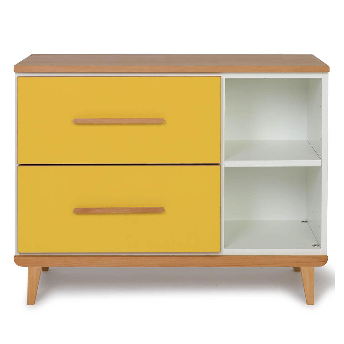 Petit meuble 2 tiroirs NADO By A.K. sunshine yellow