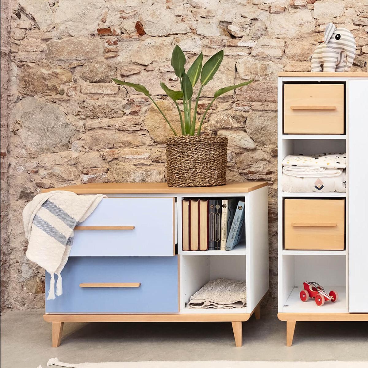Petit meuble 2 tiroirs NADO capri blue