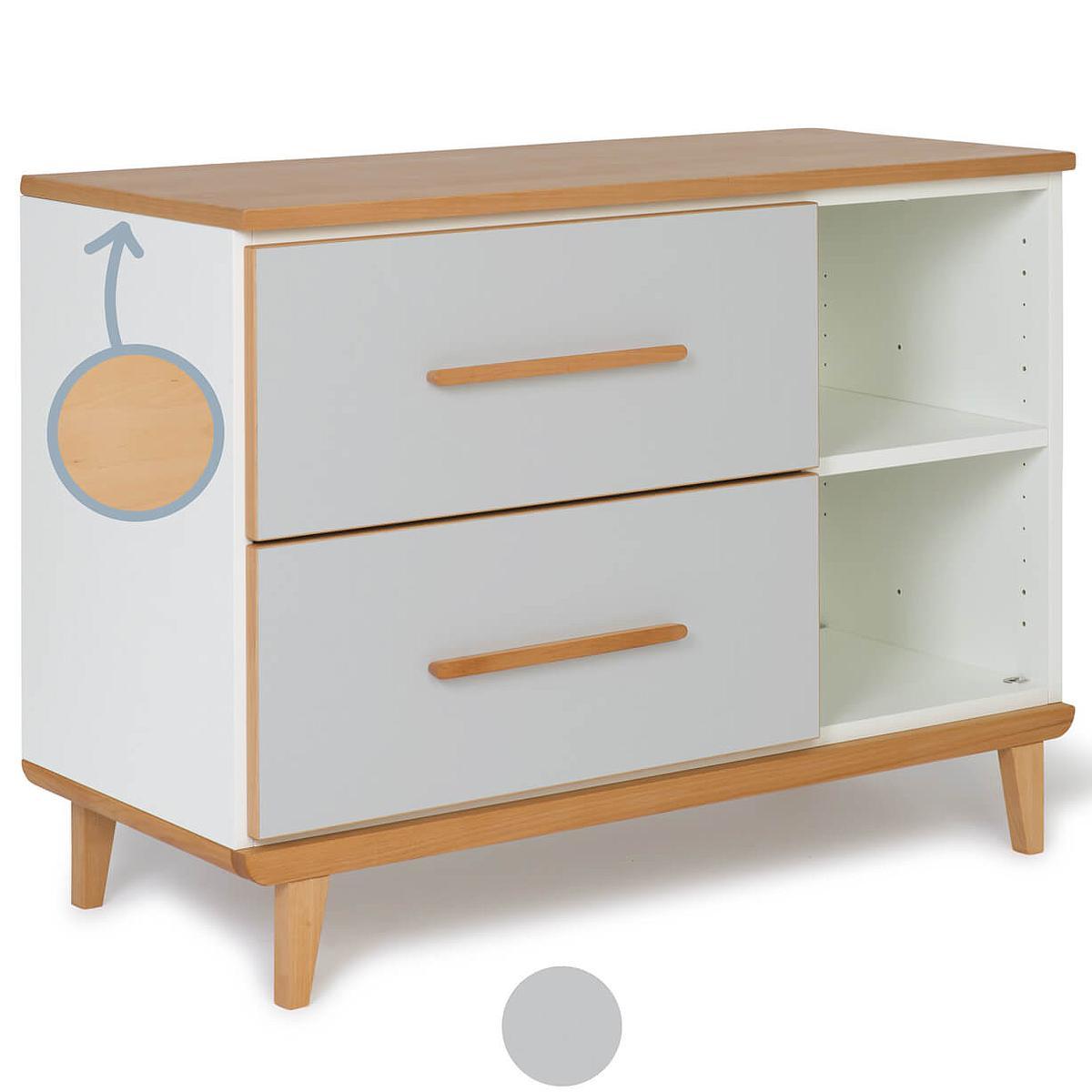 Petit meuble 2 tiroirs NADO manhattan grey