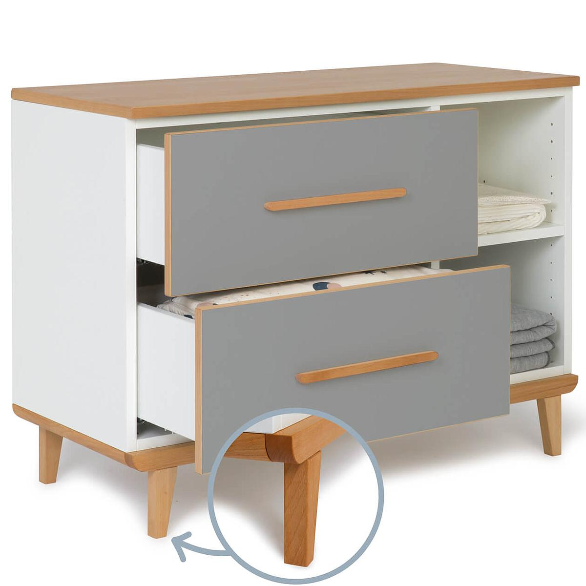 Petit meuble 2 tiroirs NADO slate grey