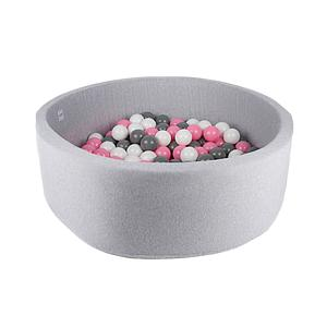 Piscine 200 boules LIGHT GREY Minibe powder pink-gris-blanc