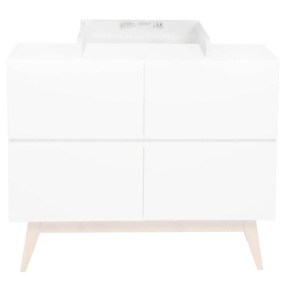 Plan à langer commode TRENDY Quax blanc