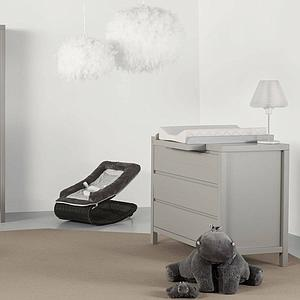 Plan à langer STRIPES Quax Griffin grey