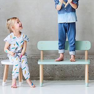 PLAY by Flexa Petit tabouret enfant 30 cm Blanc