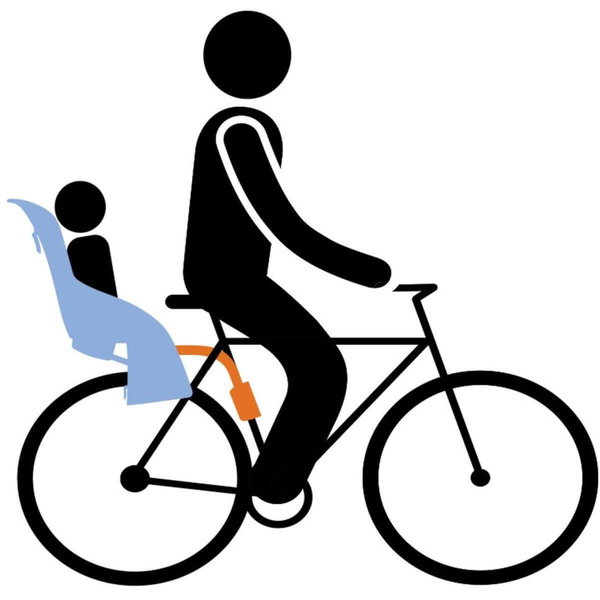 Porte-bébé vélo RIDEALONG Thule dark grey