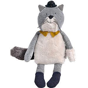 Poupée chat FERNAND LES MOUSTACHES Moulin Roty gris clair