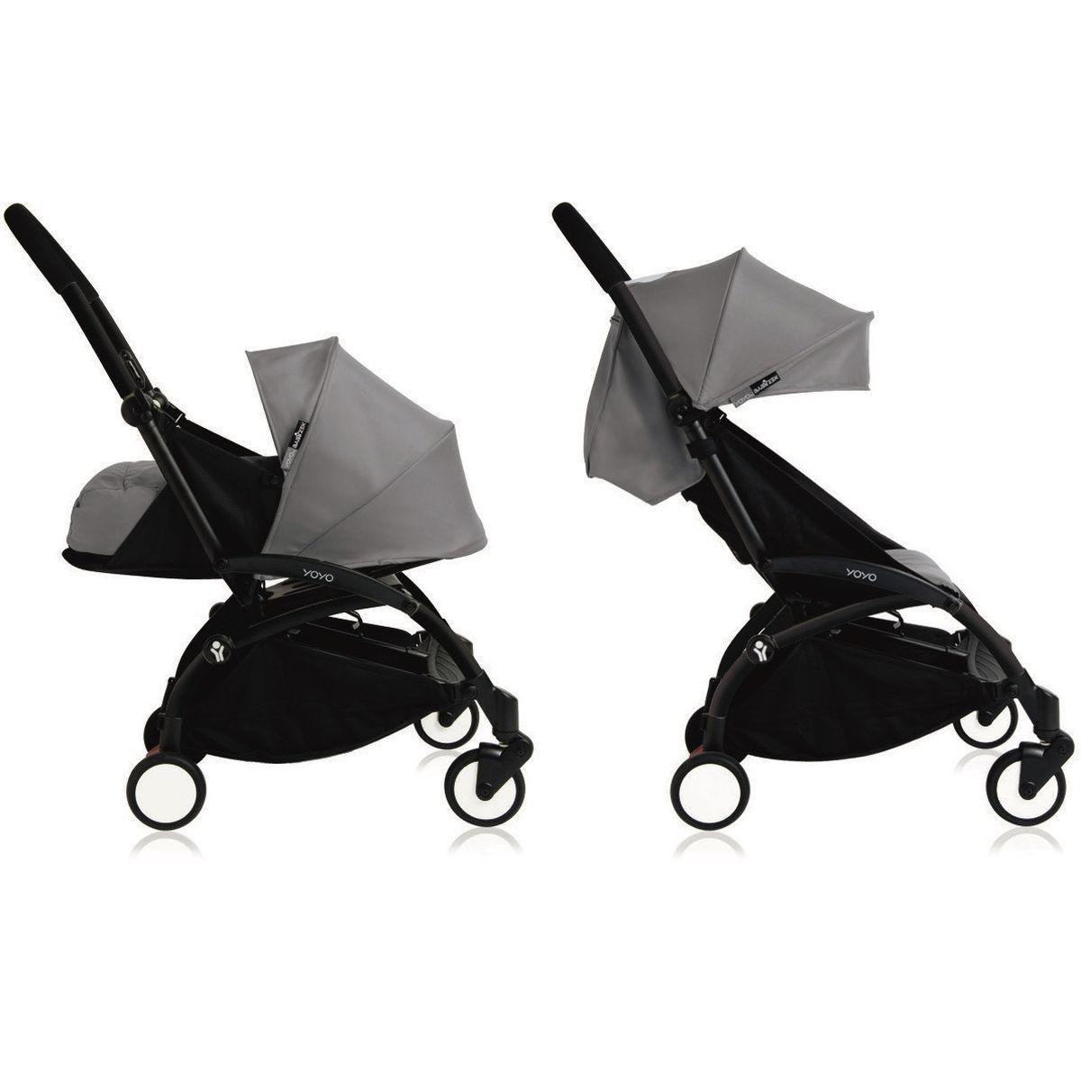 Poussette bébé/enfant YOYO+ 0+ à 6+ noir/gris
