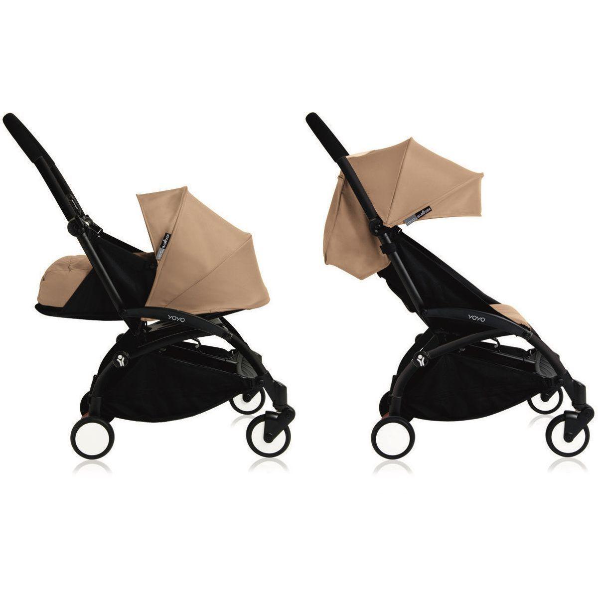 Poussette bébé/enfant YOYO+ 0+ à 6+ noir/taupe
