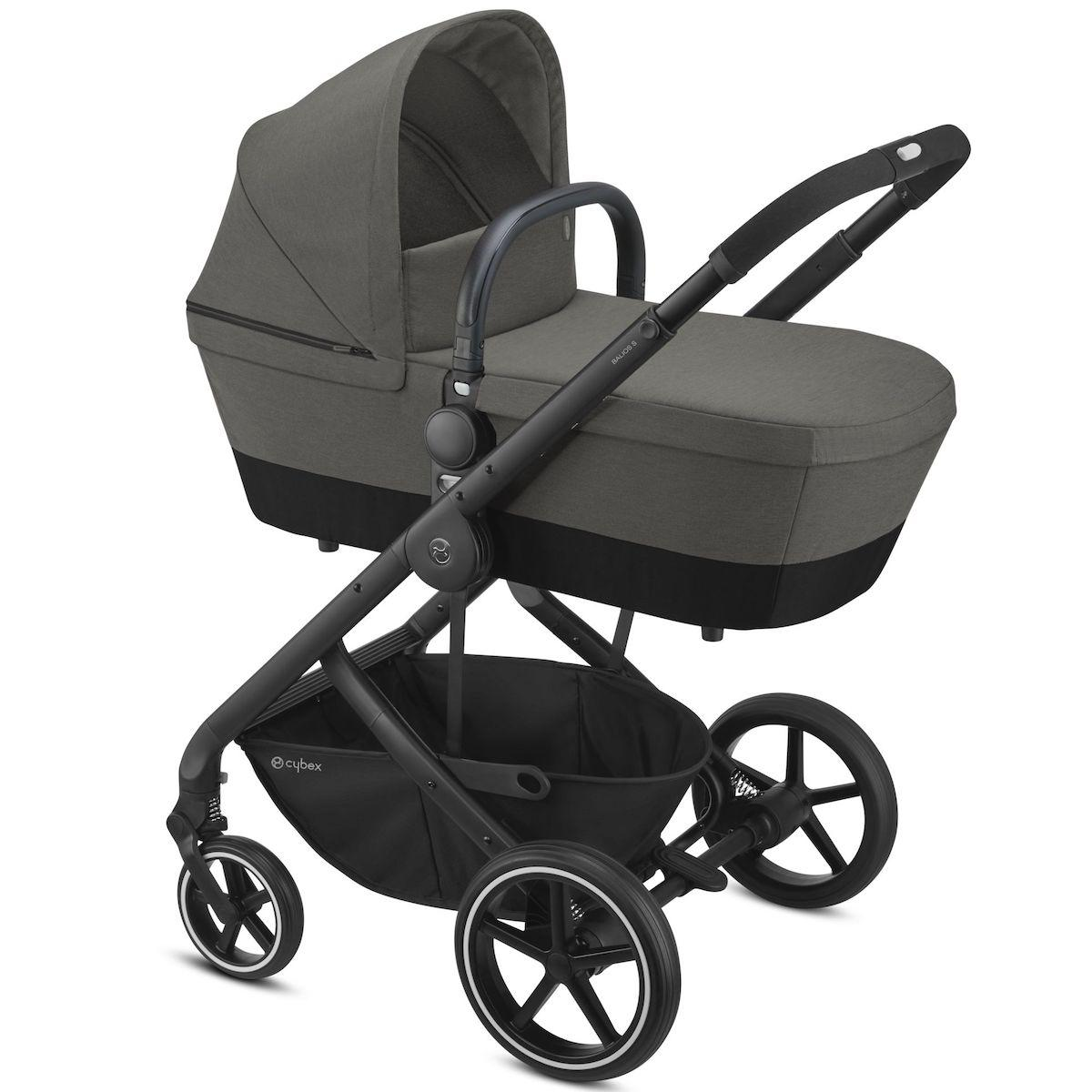 Poussette complète BALIOS S 2in1 BLK Cybex Soho grey-mid grey