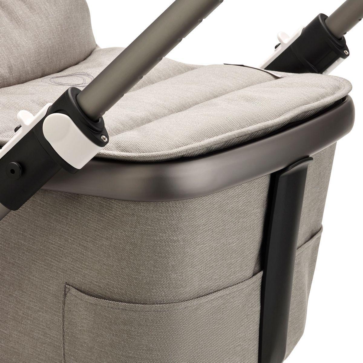 Poussette complète Bugaboo Fox3 Mineral graphite-gris claire
