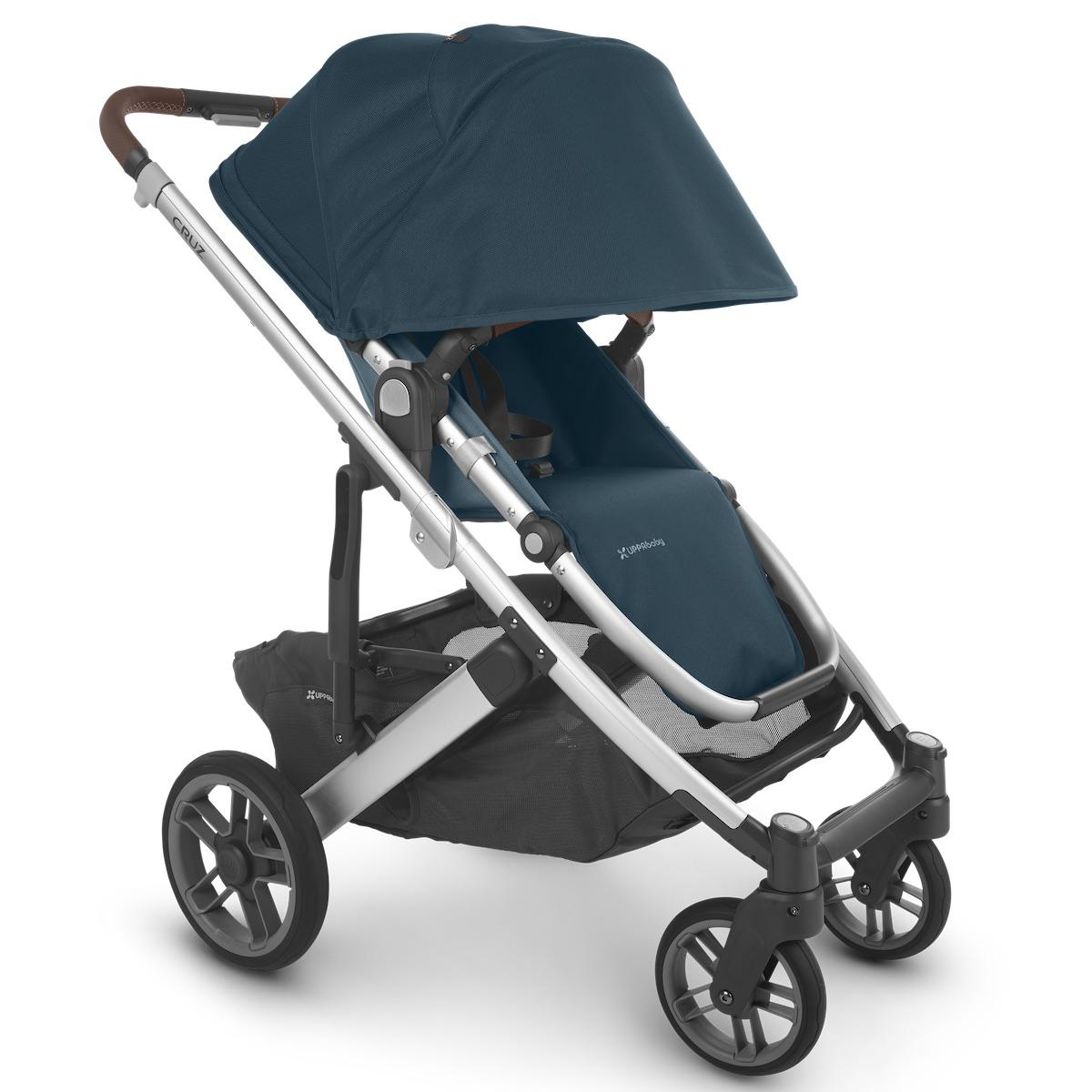 Poussette CRUZ V2 Uppababy Finn deep sea-silver-saddle leather
