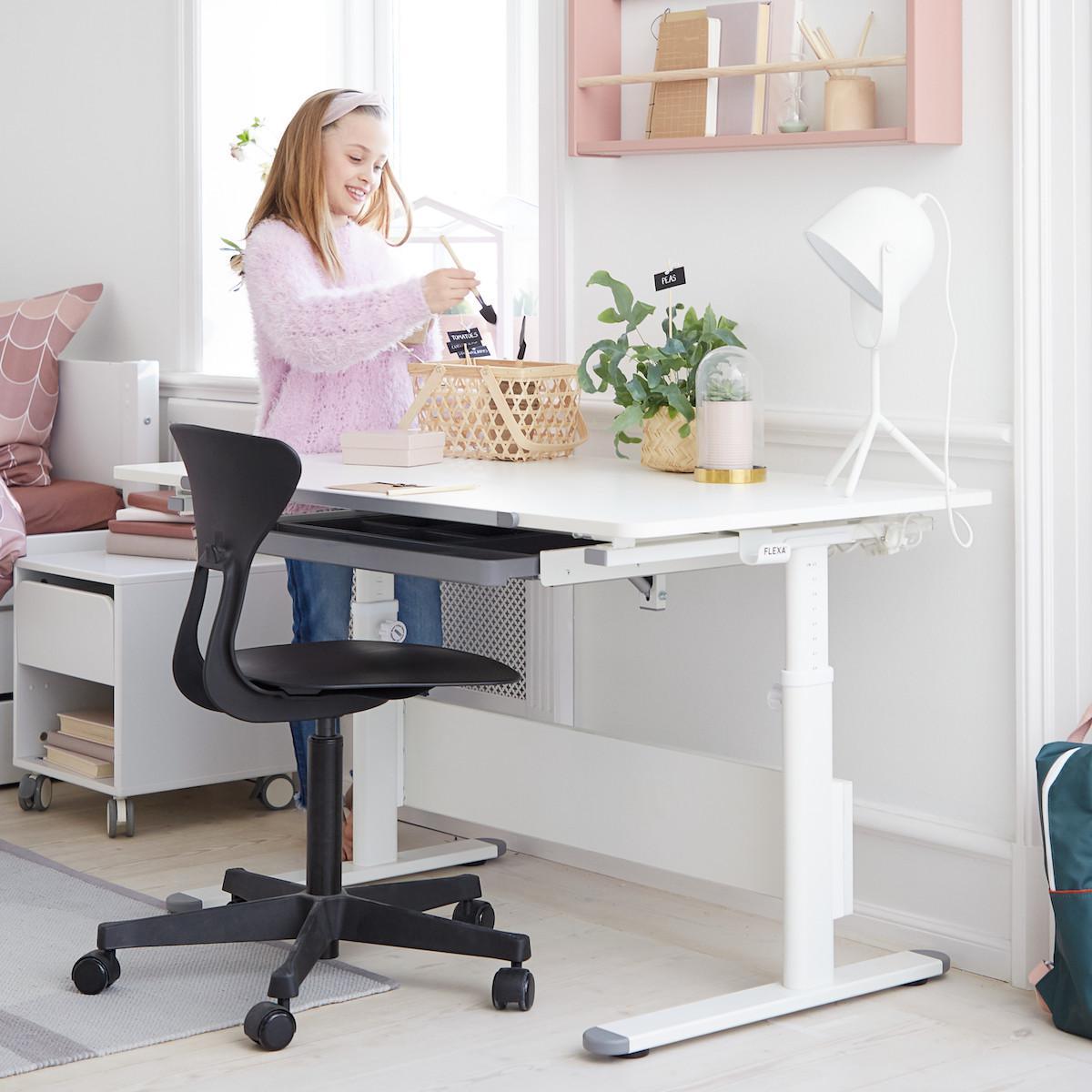 RAY by Flexa Chaise de bureau ergonomique bleue