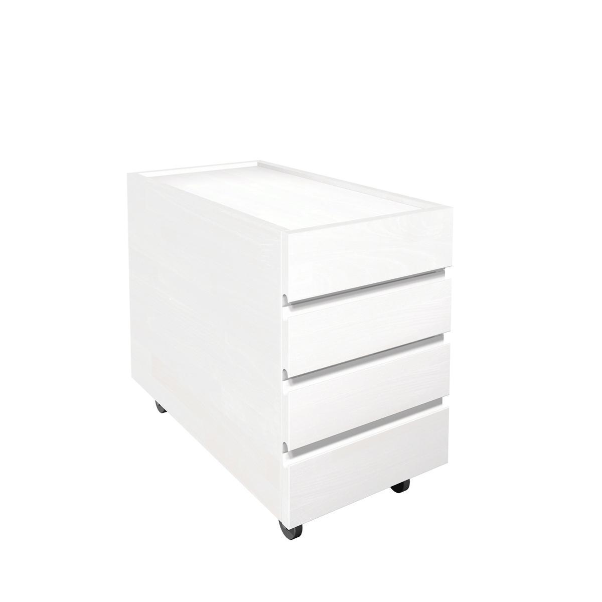Schubkastencontainer, weiß, Buche massiv, weiss (23)