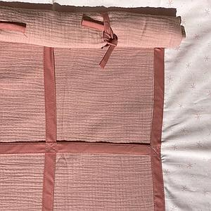 Set de 6 textiles en finition Bobble pink pour lit surélevé avec toit
