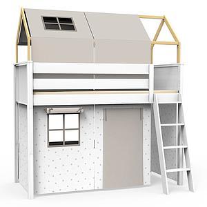 Set de 6 textiles en finition Viena grey pour lit surélevé avec toit