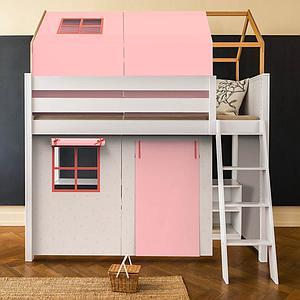 Set de 6 textiles en finition Viena pink pour lit surélevé avec toit