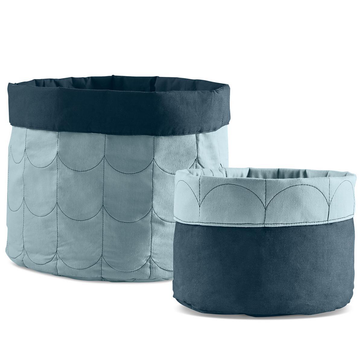 Set paniers rangements ROOM COLLECTION Flexa light-dark dusty blue