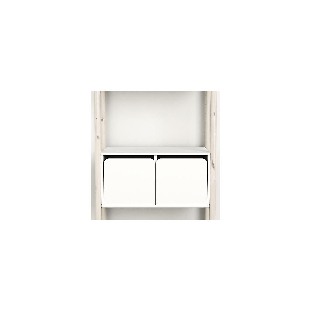 SHELFIE Midi C by Flexa Rangement 131 cm Blanc blanchi