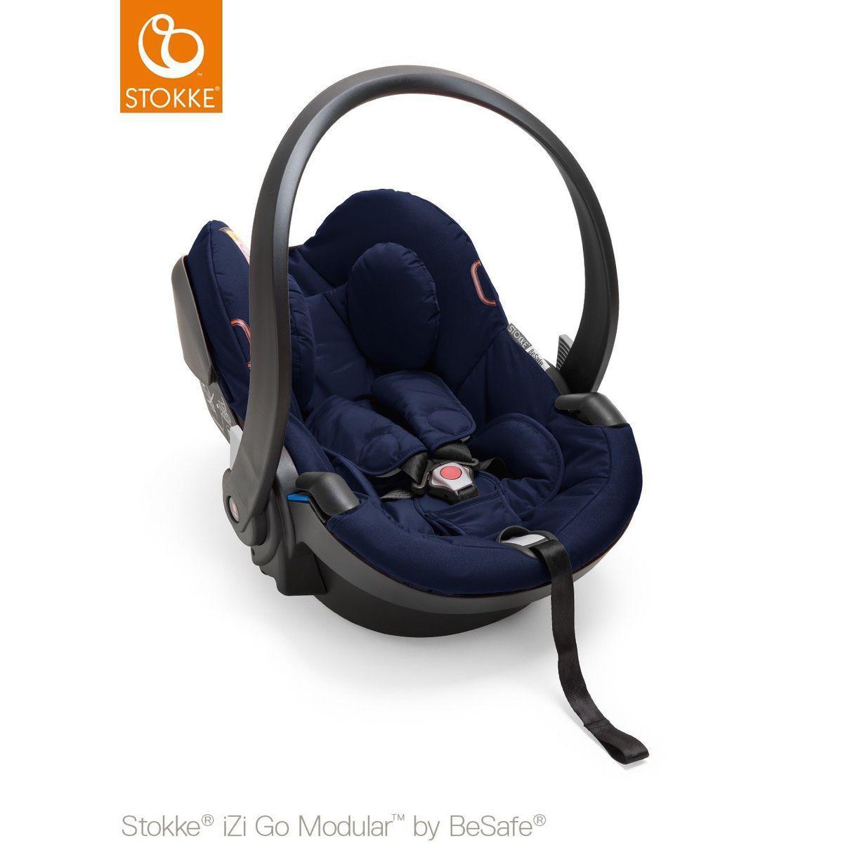 poussette nacelle tout terrain trailz stokke marron bleu. Black Bedroom Furniture Sets. Home Design Ideas