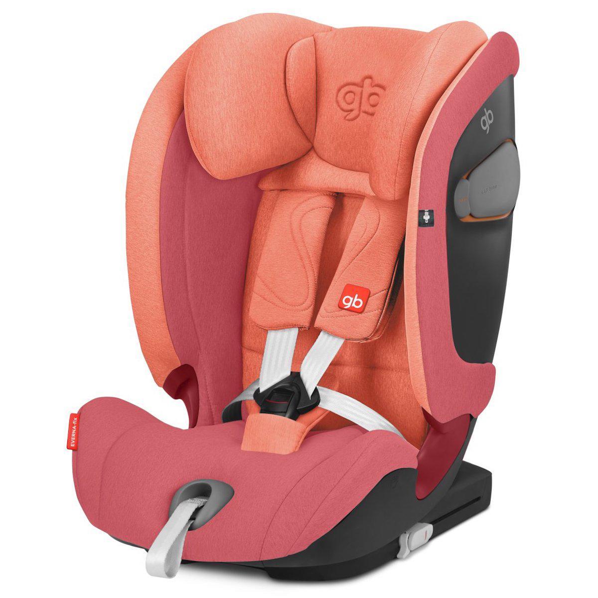 Siège auto gr1/2/3 EVERNA-FIX GB rose red-red