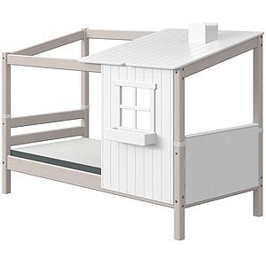 Structure toit lit cabane 200cm 1/2 PLAY HOUSE CLASSIC Flexa blanc-grey washed